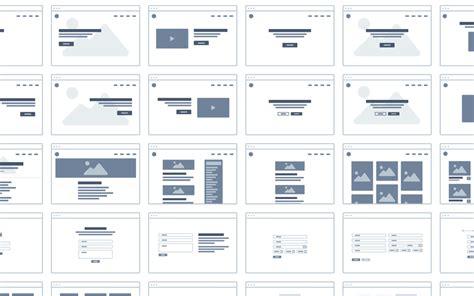wireframe userflow ui kit
