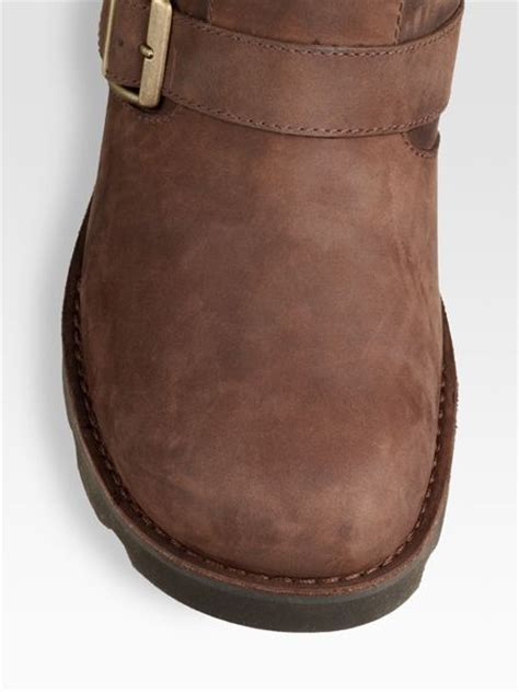 brown motorcycle boots for men ugg gallatin motorcycle boots in brown for men lyst