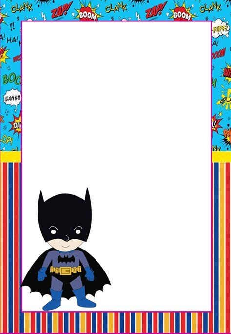marcos invitaciones tarjetas o etiquetas de batman para imprimir gratis oh my friki