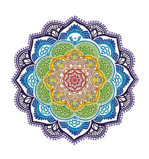 tapis de meditation relaxation yoga motif mandala violet