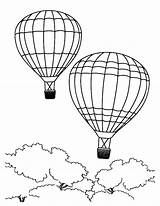 Balloon Coloring Air Pages Flying Balloons African Forest Summertime Sky Sheet Vacation Coloringsky sketch template