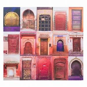 toile portes orange chemaia maisons du monde home With toile maison du monde