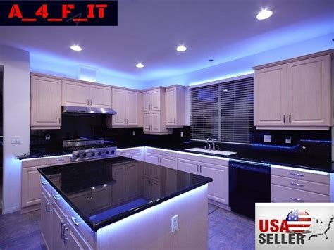 4Pcs LED Kitchen Under Cabinet Light Strip RGB SMD 5050