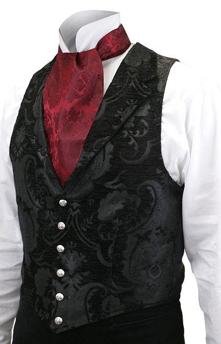 aristocrat vest black tapestry victorian mens fashion