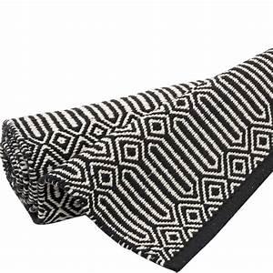 Läufer Schwarz Weiß : l ufer braid 70 x 200 cm schwarz weiss bei le bon jour ~ Orissabook.com Haus und Dekorationen