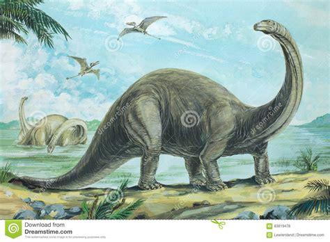 Brontosaurus Stock Illustration. Illustration Of Picture