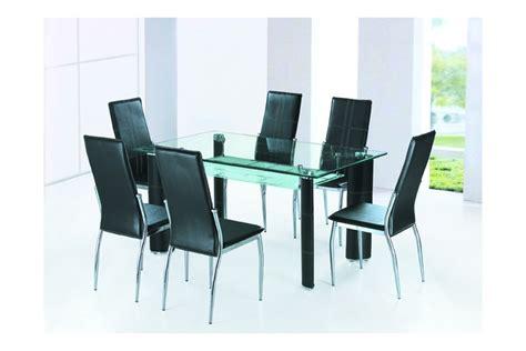 pied de chaise de bureau table salle a manger en verre alexandra noir ivoire