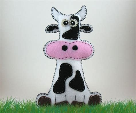 How To Sew Cowhide by Stuffed Cow Pattern Sew By Plush Felt Stuffed