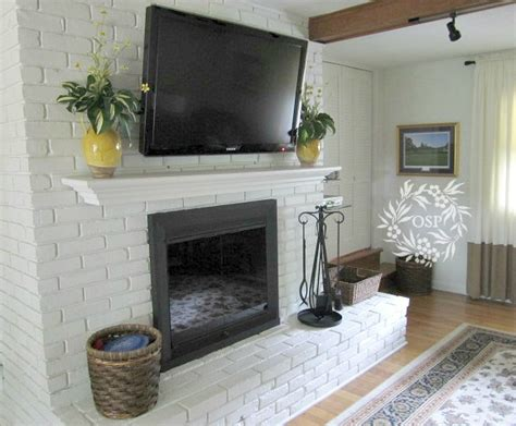 brick fireplace makeover painted brick fireplace makeover on sutton place Modern