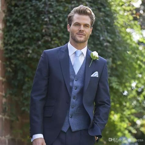 What color shoes to wear with a navy suit? Navy Blue Wedding Tuxedos Slim Fit Suits For Men Cheap ...