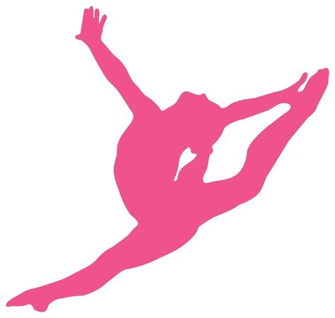 gymnastics clipart pink clipart gymnastics pencil and in color pink clipart
