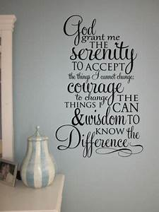 Wall decal great ideas serenity prayer wall decal for Great ideas serenity prayer wall decal