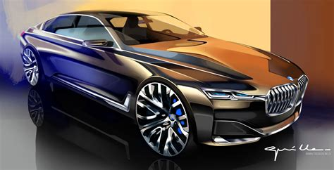 Bmw Vision Future Luxury Concept  Design Sketch By