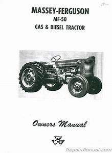 Massey Ferguson Mf50 Operators Manual