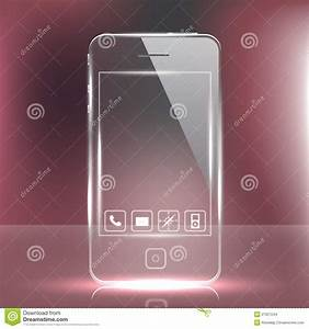 Futuristic Glass Cell Phone Stock Images - Image: 21927244