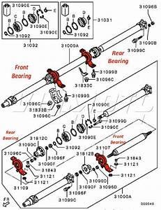 Viamoto Mitsubishi Car Parts Propshaft Centre Bearing