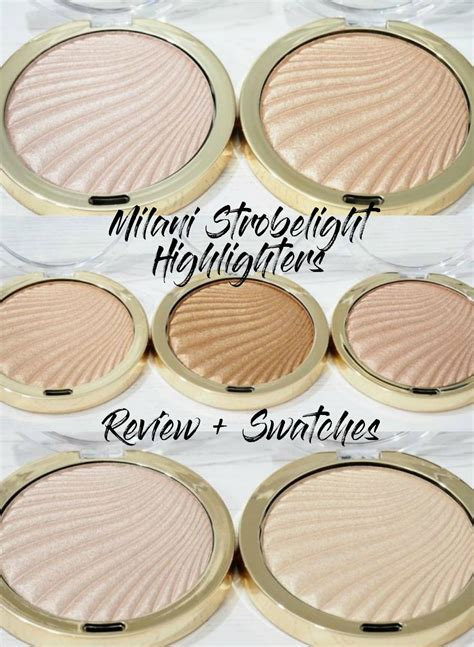 milani strobelight instant glow powder highlighters review