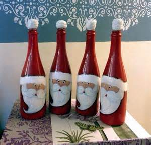 Decorative Wine Bottles Pinterest by 40 Christmas Craft Ideas To Try This Year