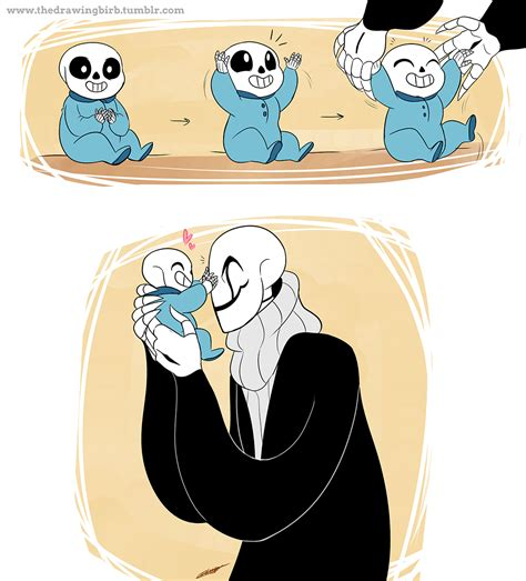 My Aesthetic Is Fanart Of Baby Bones Sans And Or Papyrus