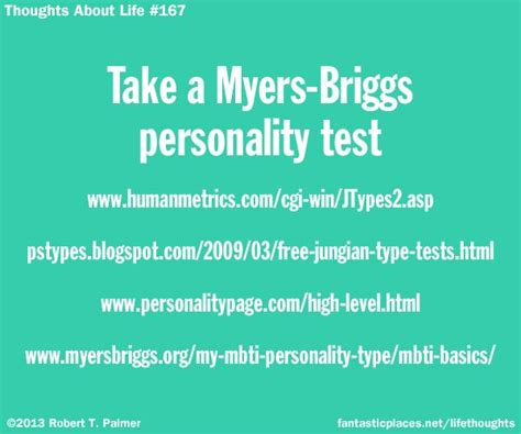 Take A Myers-briggs Personality Test