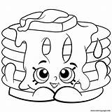 Coloring Pages Shopkins Printable Shopkin Pancake Colouring Disney Info Cartoon Easy sketch template