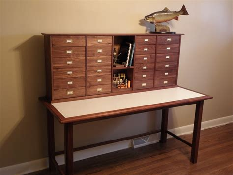 fly tying desk setup fly tying desks blue ridge furniture and cabinet works