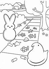 Coloring Peeps Pages Marshmallow Easter Peep Print Colouring Printable Cartoon Fun Marshmallows Popular Getcolorings Info sketch template