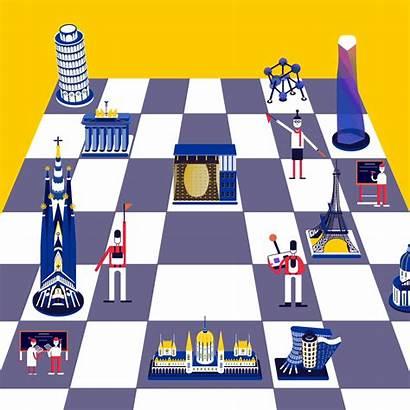 Li Mengxin Europe Future Chess Illustration Board