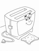 Sandwich Coloring Toaster Preschool Worksheets sketch template