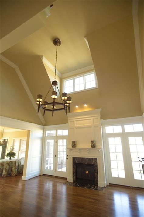 Vaulted Family Room with Dormer   Traditional   Living