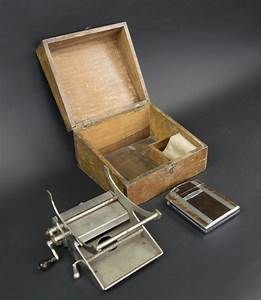 Vintage Lemaire Cigarette Rolling Machine  Wooden Box  And