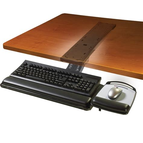 keyboard desk tray 3m akt180le adjustable desk mount ergonomic keyboard