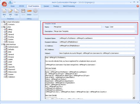 emailing  user   client atlas systems