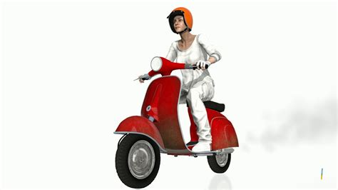 IClone: Italian Scooter freebie (iProp with perform) - YouTube