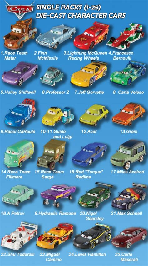 cars characters disney cars characters pictures and names cars2 single