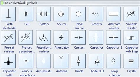 electric breaker types visio alternative for electrical engineering edraw