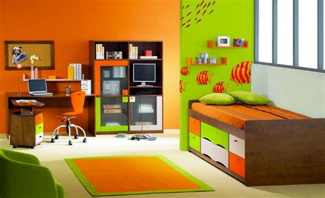 modele de chambre de garcon modèle déco chambre garçon orange