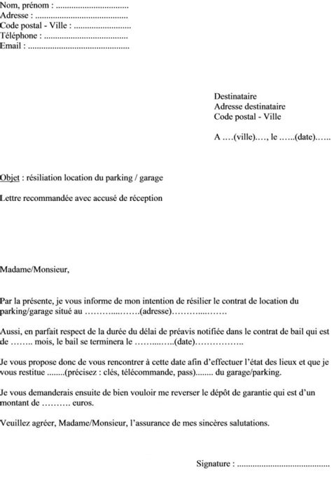 modele lettre préavis 1 mois image modele lettre de preavis 1 mois rsa