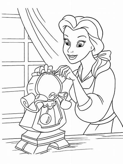 Coloring Belle Princess Disney Gaddynippercrayons Princesses