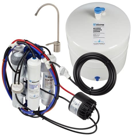 master water conditioning corp uv l home master ultra with permeate pump loaded under sink