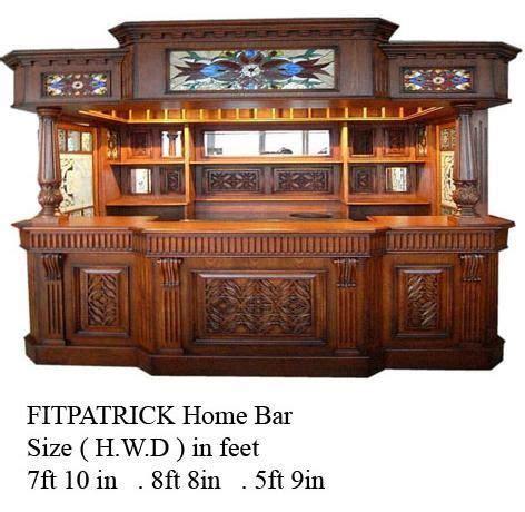 fitzpatrick irish mahogany home bar furniture tavern pub