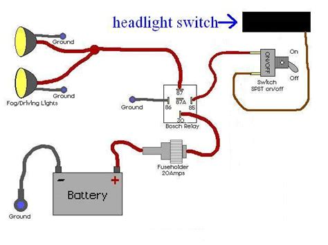 wiring in driving lights diagram how to wire up driving lights diagram 37 wiring diagram