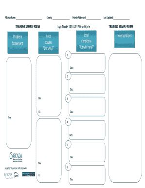 printable logic model template forms fillable samples