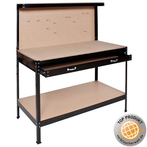 pegboard table workbench work table pegboard counter drawer workshop crafting garage tool box ebay
