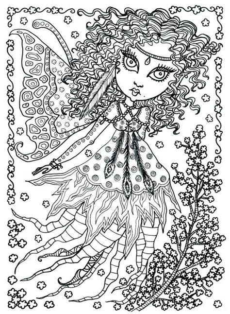 Fairy Coloring page colouring detailed advanved adult