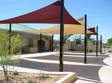 image of sun shade sail residential patio sun shade