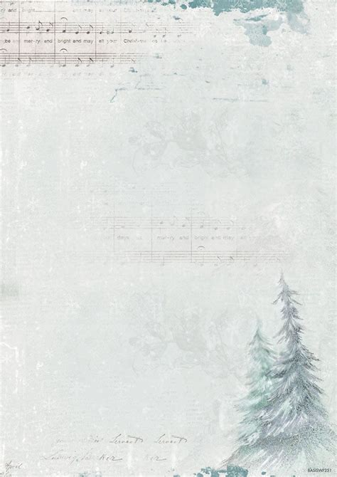 Winter Feelings Background Paper Double Printed A4