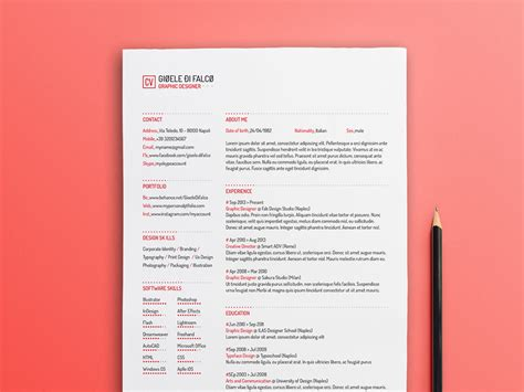 Clean Creative Resume Templates by Free Simple Typographic Resume Template With Clean Design