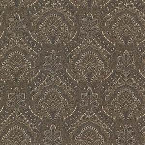 Kenneth James Ambrosia Charcoal Glitter Damask Wallpaper ...
