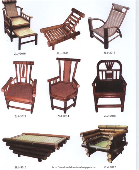 home decoration furniture bamboo furnitures